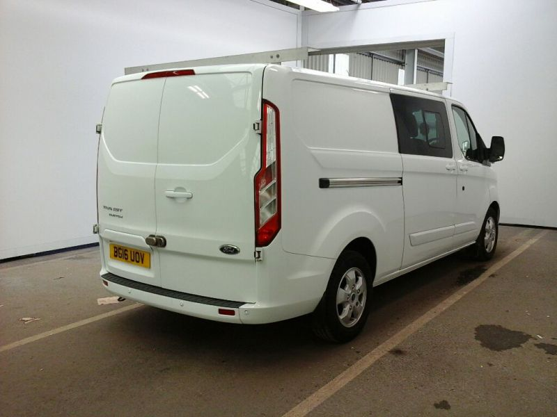 FORD TRANSIT CUSTOM 290 TDCI 125 L2H1 LIMITED DOUBLE CAB 6 SEAT CREW VAN LWB LOW ROOF FWD - 9731 - 2