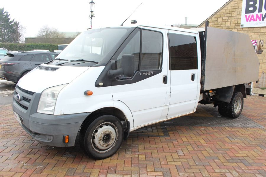 FORD TRANSIT 350 TDCI 110 LWB DOUBLE CAB HIGH SIDED ARBORIST TIPPER - 7454 - 15