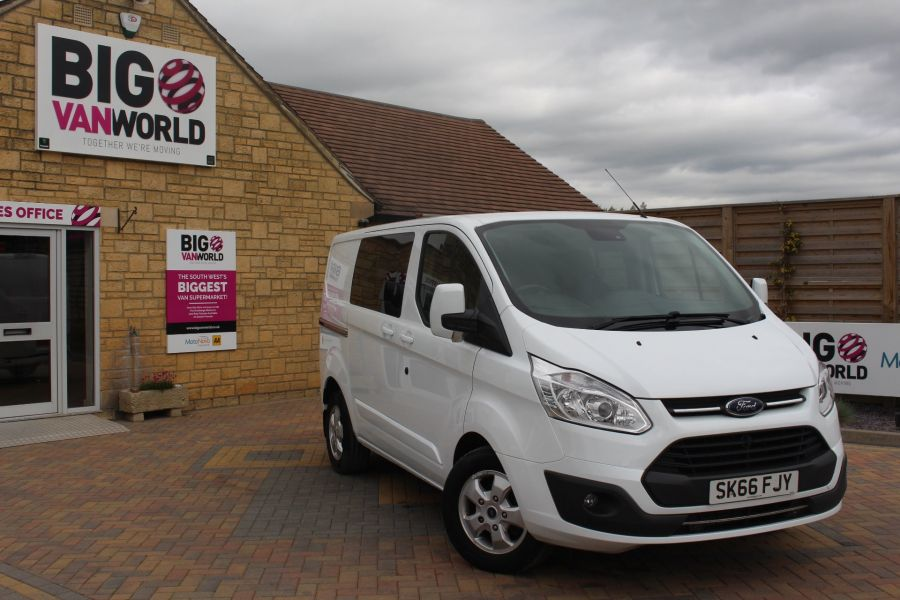 FORD TRANSIT CUSTOM 310 TDCI 170 L1 H1 LIMITED DOUBLE CAB 5 SEAT CREW VAN SWB LOW ROOF - 9234 - 2
