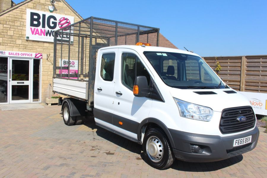 FORD TRANSIT 350 TDCI 125 L3 LWB 7 SEAT DOUBLE CAB 'ONE STOP' ALLOY TIPPER WITH STEEL CAGE DRW RWD - 9150 - 11