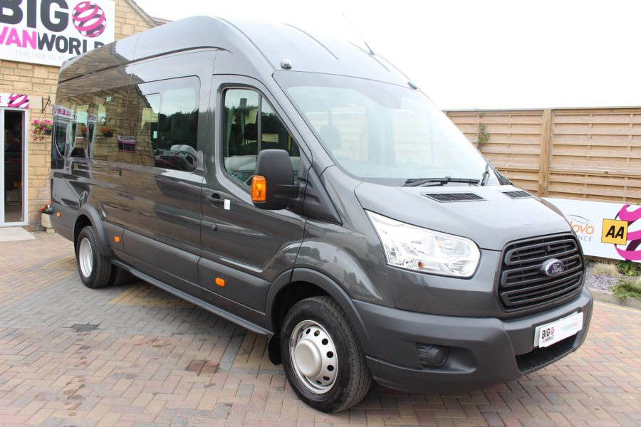FORD TRANSIT 460 TDCI 155 L4 H3 17 SEAT BUS HIGH ROOF DRW RWD - 8132 - 1