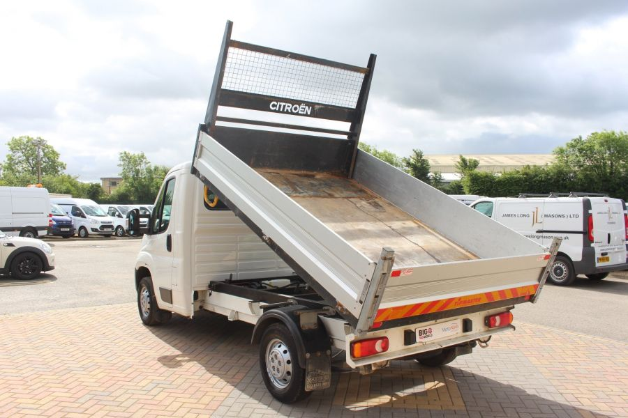 CITROEN RELAY 35 HDI 130 MWB L2 SINGLE CAB ALLOY TIPPER - 6202 - 7