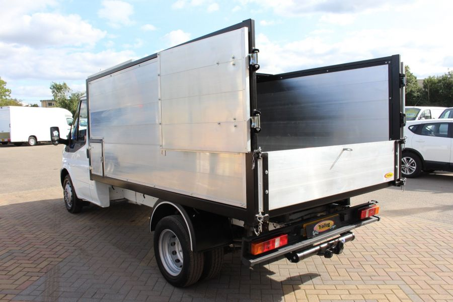 FORD TRANSIT 350 MWB SINGLE CAB HIGH SIDED ARBORIST ALLOY TIPPER - 6153 - 10