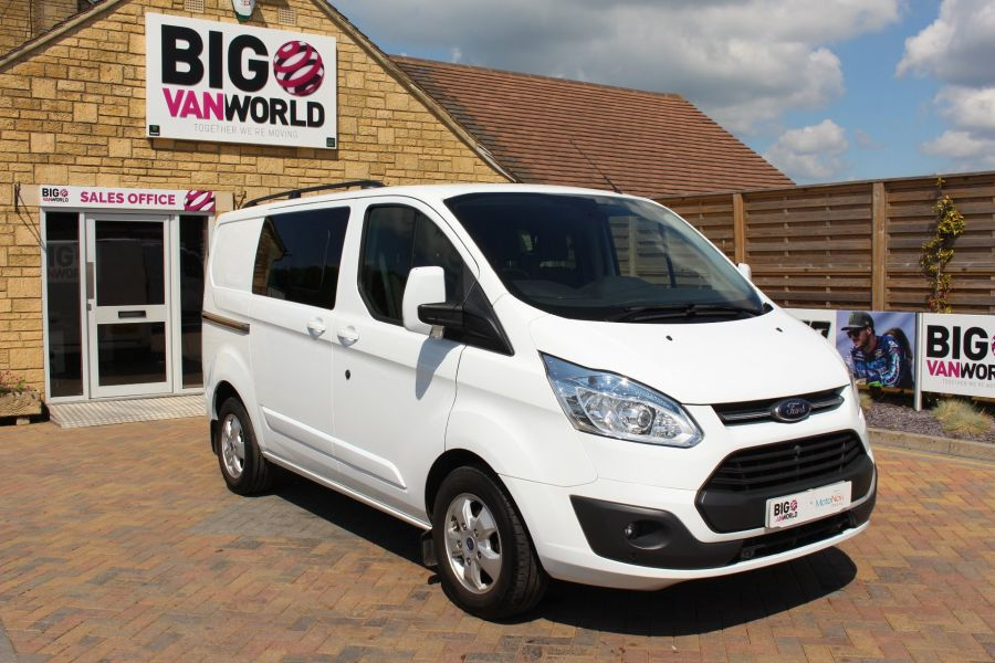 FORD TRANSIT CUSTOM 290 TDCI 125 L1 H1 LIMITED SWB DOUBLE CAB 6 SEAT CREW VAN FWD - 9206 - 2