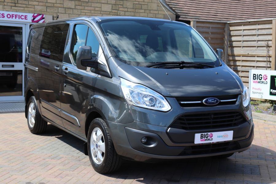 FORD TRANSIT CUSTOM 290 TDCI 125 L1H1 LIMITED DOUBLE CAB 6 SEAT CREW VAN SWB LOW ROOF FWD - 9474 - 3