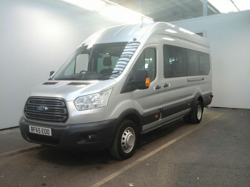 FORD TRANSIT 460 TDCI 155 L4 H3 TREND 17 SEAT BUS HIGH ROOF DRW RWD - 8604 - 1