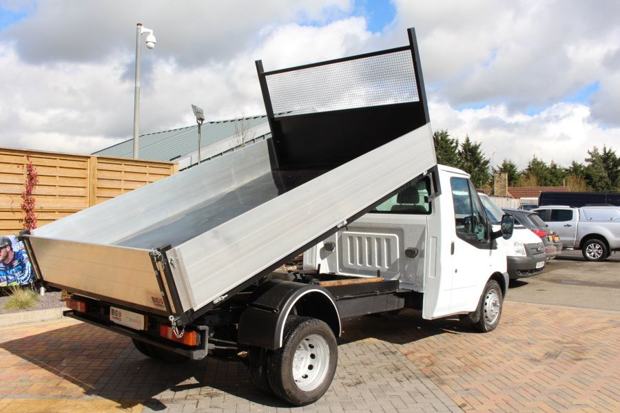 FORD TRANSIT 350 TDCI 100 MWB SINGLE CAB ALLOY TIPPER - 7589 - 4