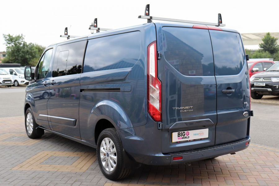FORD TRANSIT CUSTOM 320 TDCI 130 L2 H1 LIMITED DOUBLE CAB 6 SEAT CREW VAN LWB LOW ROOF FWD - 9606 - 7