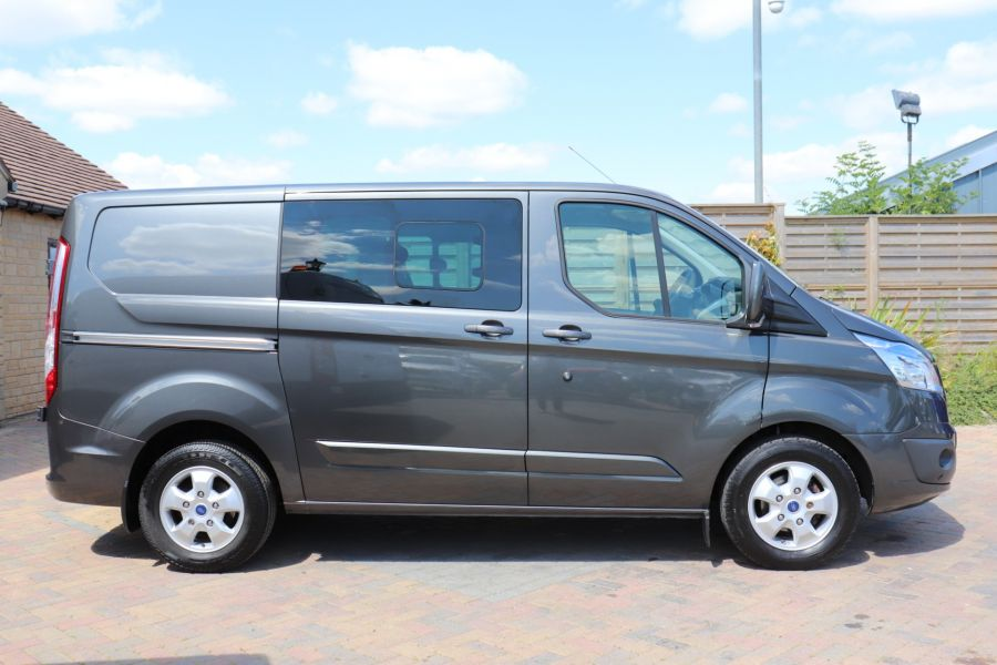 FORD TRANSIT CUSTOM 290 TDCI 125 L1H1 LIMITED DOUBLE CAB 6 SEAT CREW VAN SWB LOW ROOF FWD - 9474 - 4