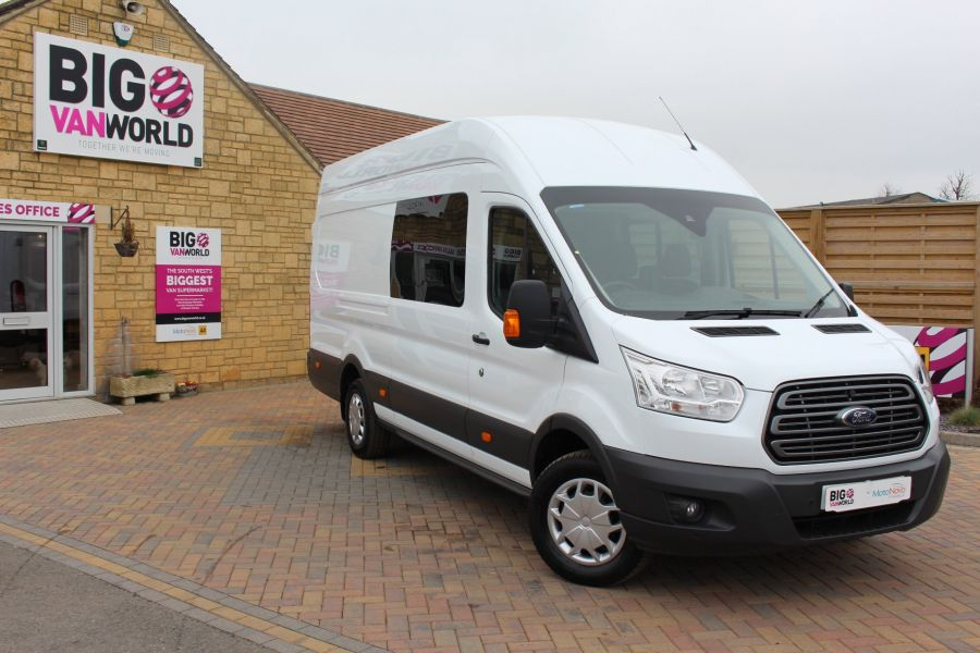 FORD TRANSIT 350 TDCI 155 L4 H3 TREND DOUBLE CAB 7 SEAT CREW VAN JUMBO HIGH ROOF  - 7472 - 2