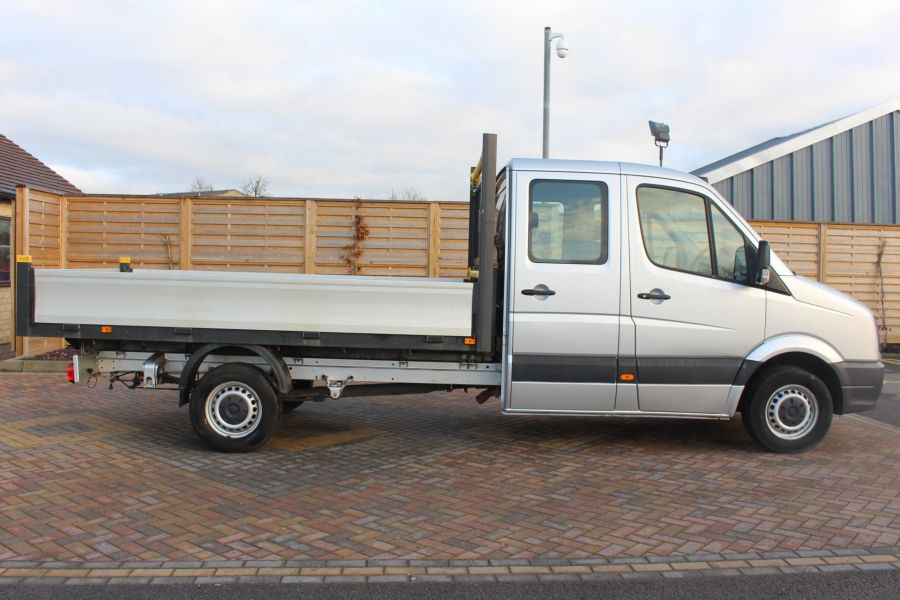 VOLKSWAGEN CRAFTER CR35 TDI 109 LWB 7 SEAT DOUBLE CAB ALLOY DROPSIDE - 9019 - 4