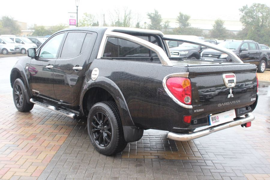 MITSUBISHI L200 DI-D 176 4X4 BARBARIAN BLACK LB SPECIAL EDITIONS DOUBLE CAB WITH ROLL'N'LOCK TOP - 6848 - 7