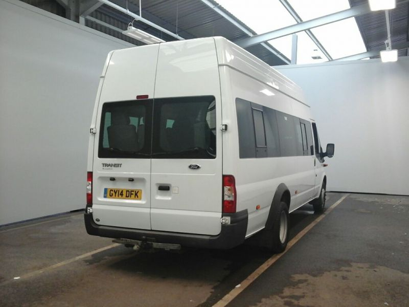 FORD TRANSIT 430 TDCI 135 EL LWB 17 SEAT BUS HIGH ROOF DRW RWD - 9665 - 2