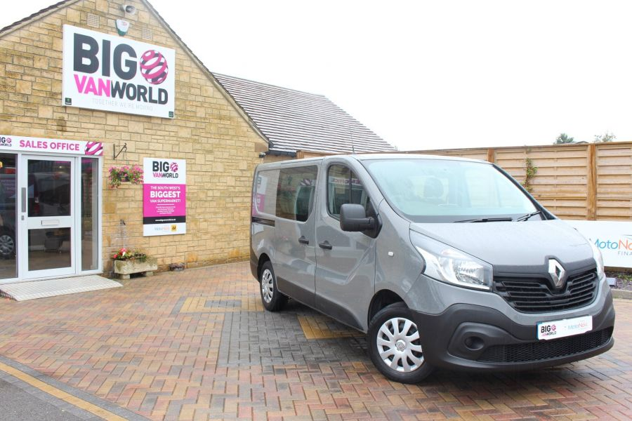 RENAULT TRAFIC SL27 DCI 115 BUSINESS DOUBLE CAB 6 SEAT CREW VAN SWB LOW ROOF - 8178 - 2