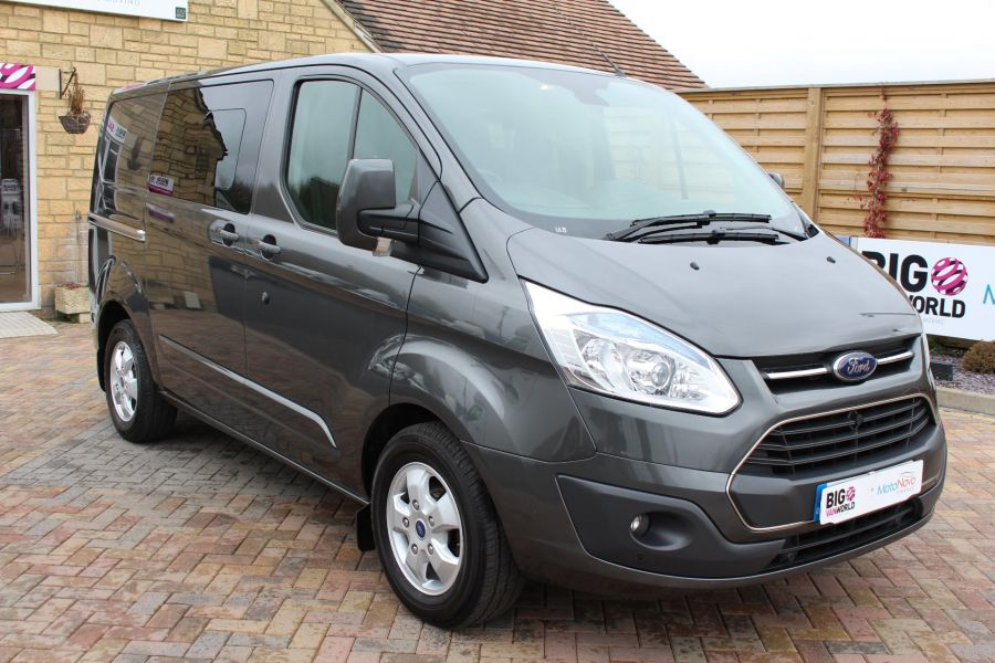 FORD TRANSIT CUSTOM 290 TDCI 125 L1 H1 LIMITED DOUBLE CAB 6 SEAT CREW VAN SWB LOW ROOF FWD - 7542 - 1