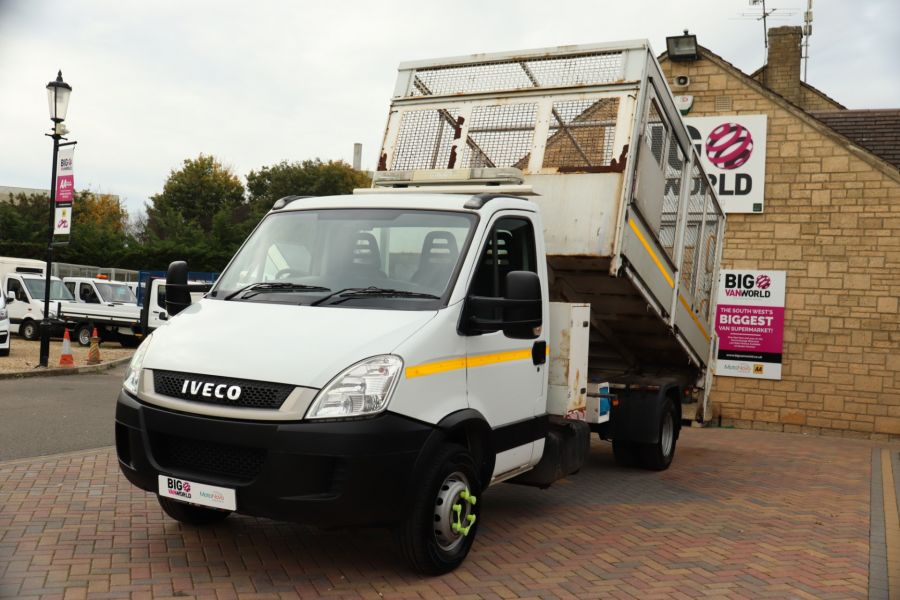 IVECO DAILY 70C18 3450 WB SINGLE CAB ALLOY CAGED TIPPER WITH TAIL LIFT - 9614 - 18