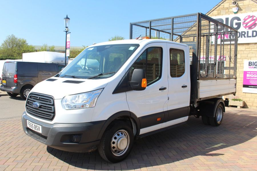 FORD TRANSIT 350 TDCI 125 L3 LWB 7 SEAT DOUBLE CAB 'ONE STOP' ALLOY TIPPER WITH STEEL CAGE DRW RWD - 9150 - 16