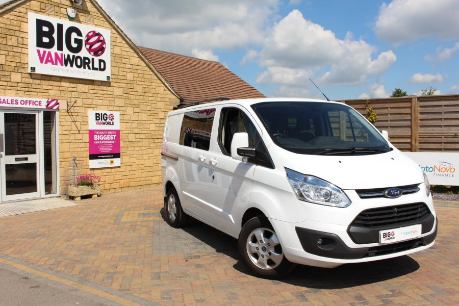 FORD TRANSIT CUSTOM 290 TDCI 125 L1 H1 LIMITED SWB DOUBLE CAB 6 SEAT CREW VAN FWD - 9206 - 1