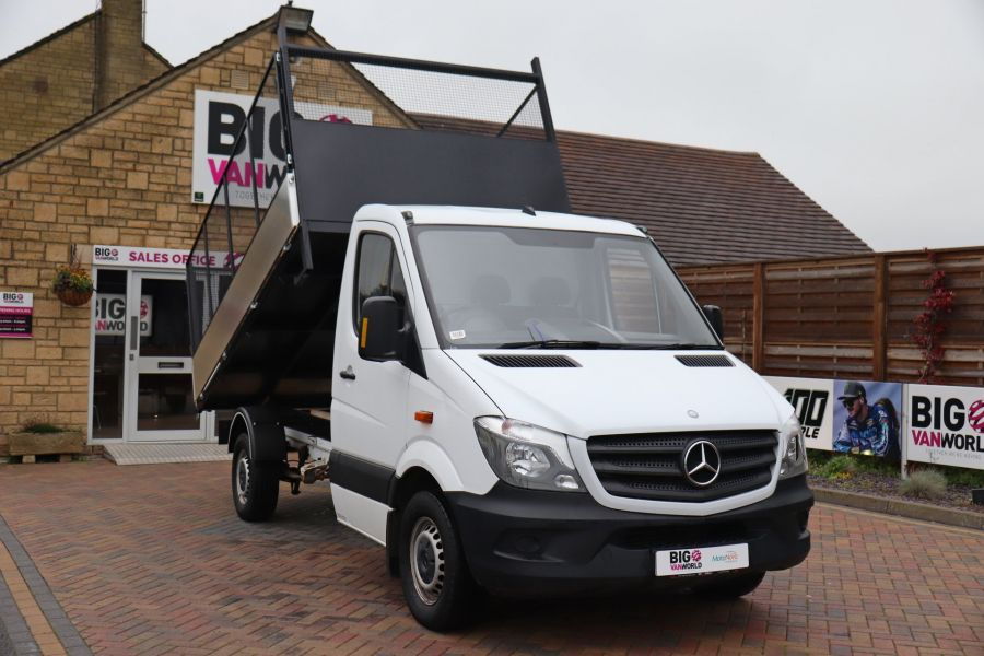 MERCEDES SPRINTER 313 CDI 129 MWB SINGLE CAB NEW BUILD CAGED TIPPER  - 10825 - 14