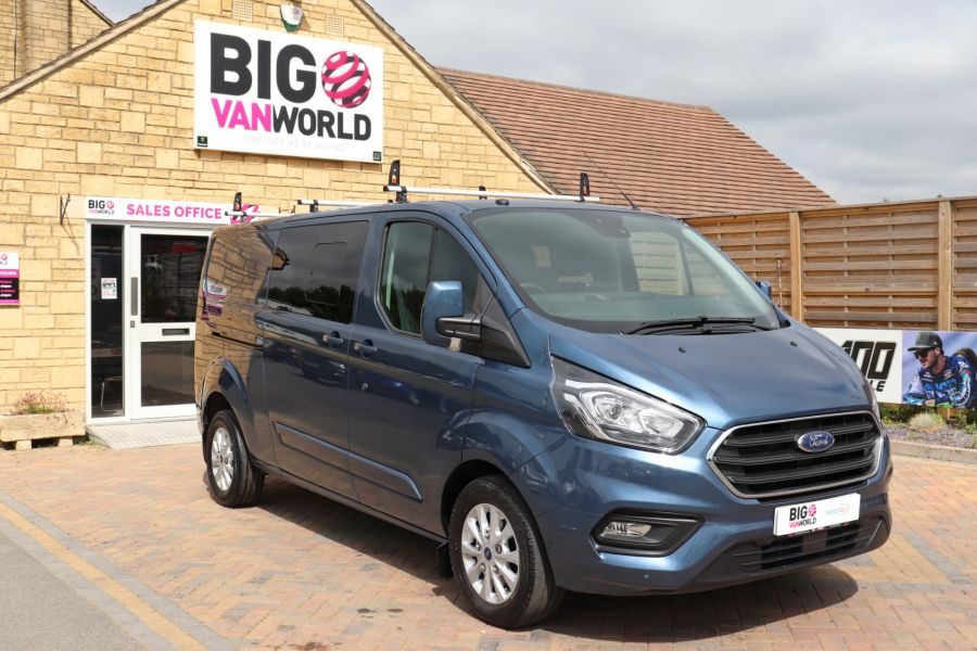 FORD TRANSIT CUSTOM 320 TDCI 130 L2 H1 LIMITED DOUBLE CAB 6 SEAT CREW VAN LWB LOW ROOF FWD - 9606 - 2