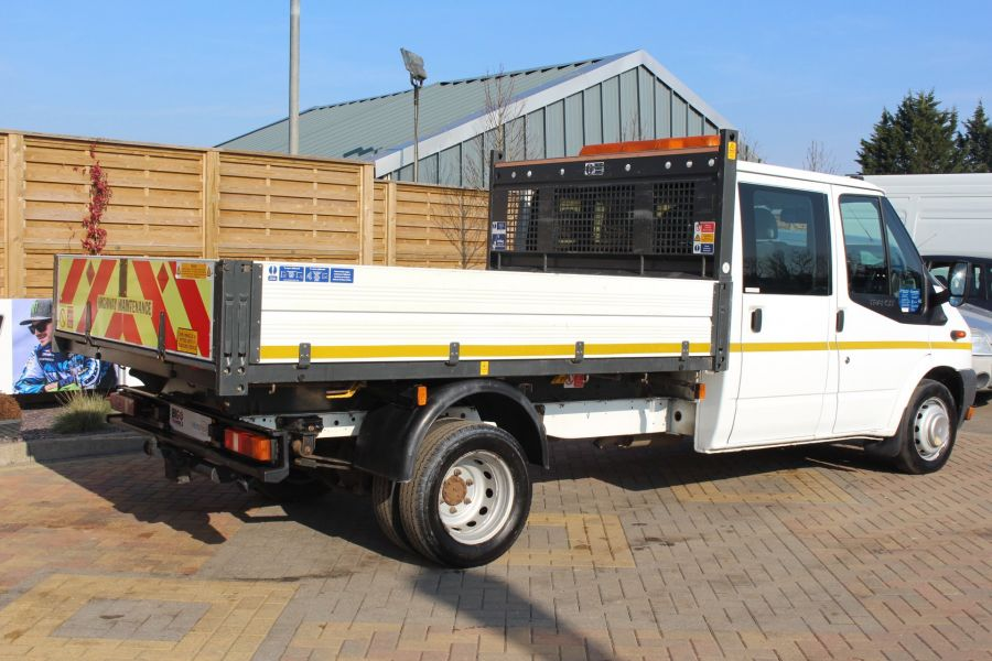 FORD TRANSIT 350 TDCI 155 LWB 6 SEAT DOUBLE CAB 'ONE STOP' ALLOY TIPPER DRW RWD - 7337 - 13