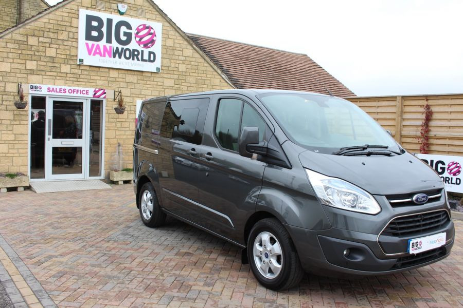 FORD TRANSIT CUSTOM 290 TDCI 125 L1 H1 LIMITED DOUBLE CAB 6 SEAT CREW VAN SWB LOW ROOF FWD - 7542 - 3