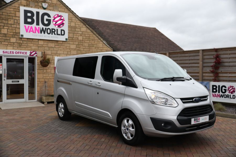 FORD TRANSIT CUSTOM 310 TDCI 130 L2H1 LIMITED DOUBLE CAB 6 SEAT CREW VAN  LWB LOW ROOF FWD  - 9968 - 2