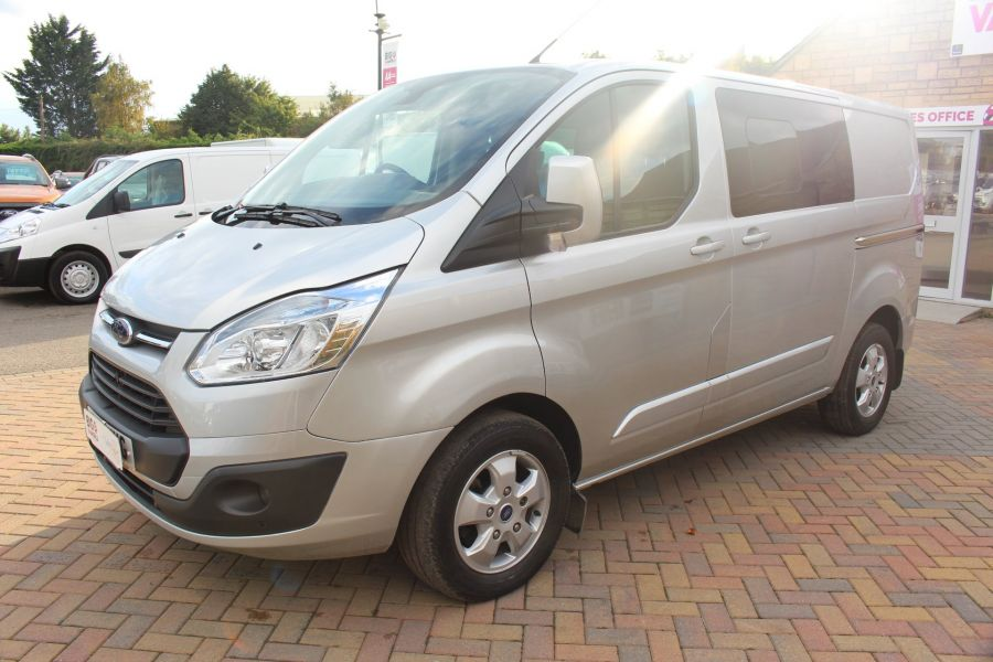 FORD TRANSIT CUSTOM 290 TDCI 125 L1 H1 LIMITED DOUBLE CAB 6 SEAT CREW VAN SWB LOW ROOF FWD - 6791 - 8