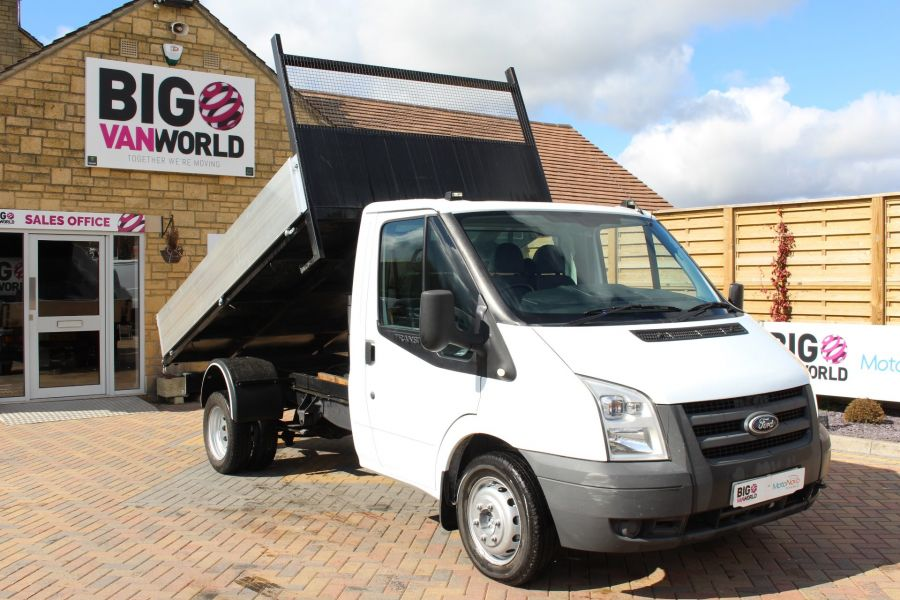 FORD TRANSIT 350 TDCI 100 MWB SINGLE CAB ALLOY TIPPER - 7589 - 2