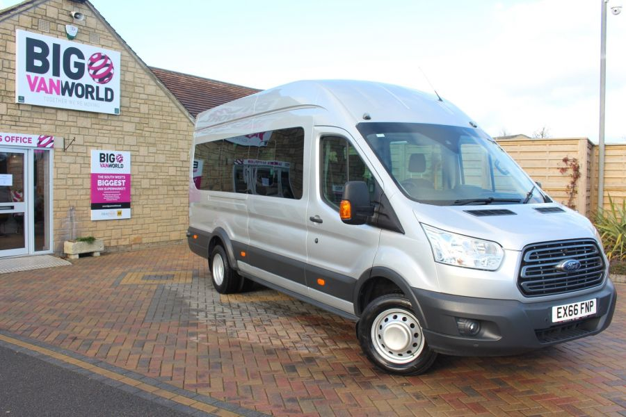 FORD TRANSIT 460 TDCI 155 TREND L4 H3 HIGH ROOF 17 SEAT BUS - 8517 - 2