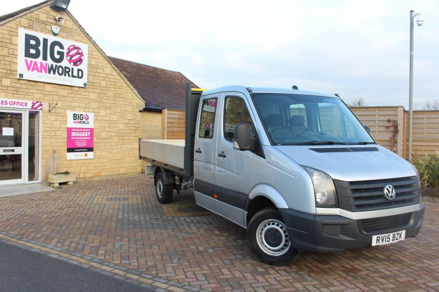 VOLKSWAGEN CRAFTER CR35 TDI 109 LWB 7 SEAT DOUBLE CAB ALLOY DROPSIDE - 9019 - 2