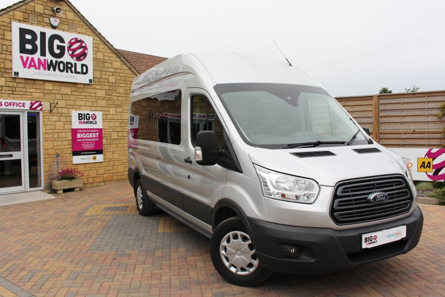 FORD TRANSIT 410 TDCI 155 L3 H3 TREND 15 SEAT BUS LWB HIGH ROOF RWD - 9126 - 1