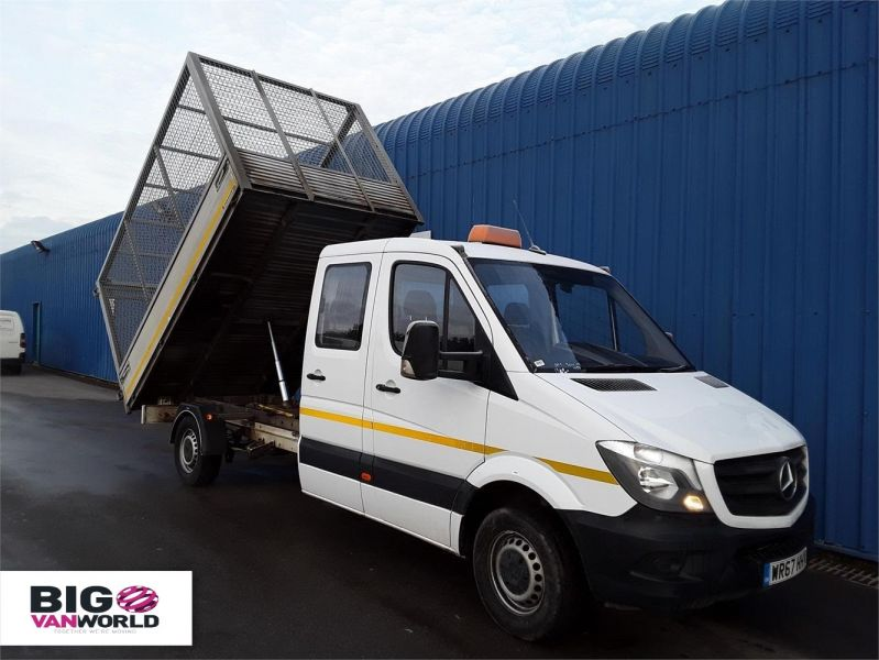 MERCEDES SPRINTER 314CDI LWB DOUBLE CAB 6 SEAT CAGED ALLOY TIPPER - 9288 - 1