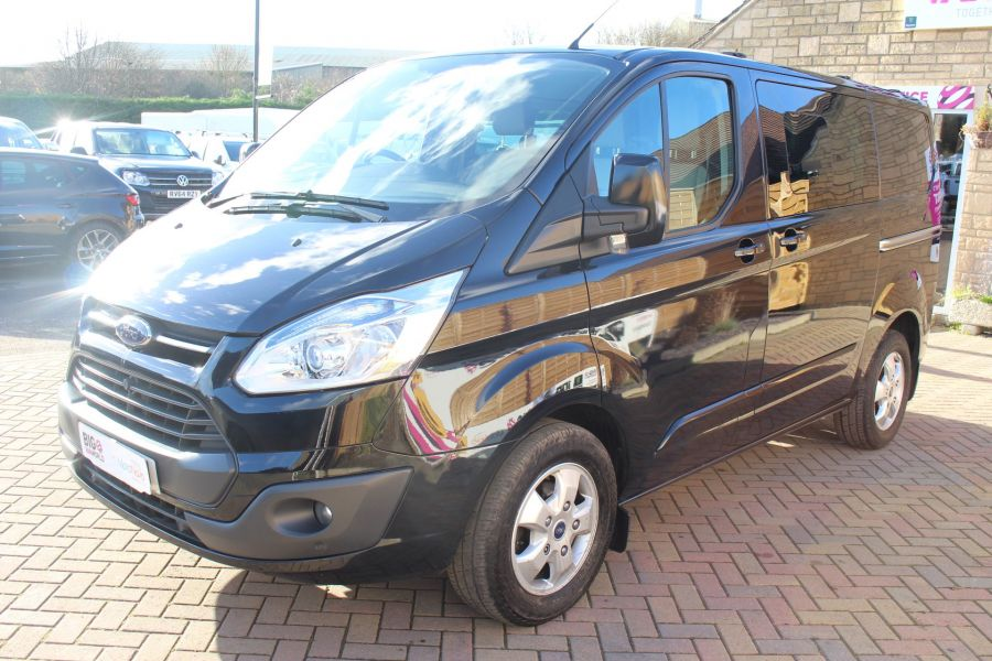 FORD TRANSIT CUSTOM 290 TDCI 155 L1 H1 LIMITED DOUBLE CAB 6 SEAT CREW VAN SWB LOW ROOF FWD - 7026 - 8