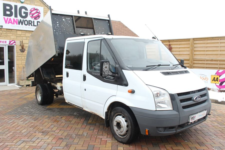 FORD TRANSIT 350 TDCI 110 LWB DOUBLE CAB HIGH SIDED ARBORIST TIPPER - 7454 - 2