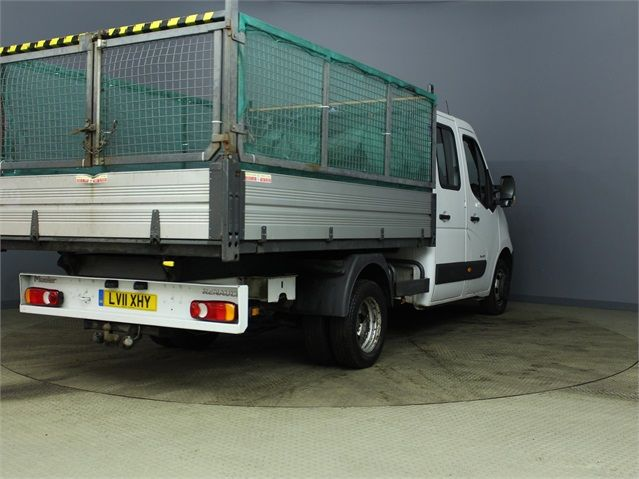 RENAULT MASTER ML35 DCI 100 MWB 7 SEAT DOUBLE CAB ALLOY CAGED TIPPER DRW RWD - 7335 - 2