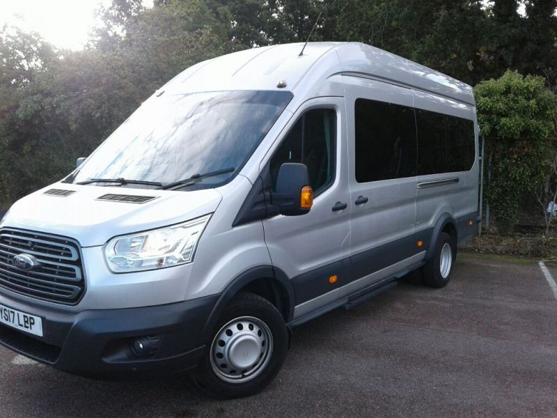 FORD TRANSIT 460 TDCI 155 L4H3 TREND 17 SEAT BUS HIGH ROOF DRW RWD - 10038 - 1