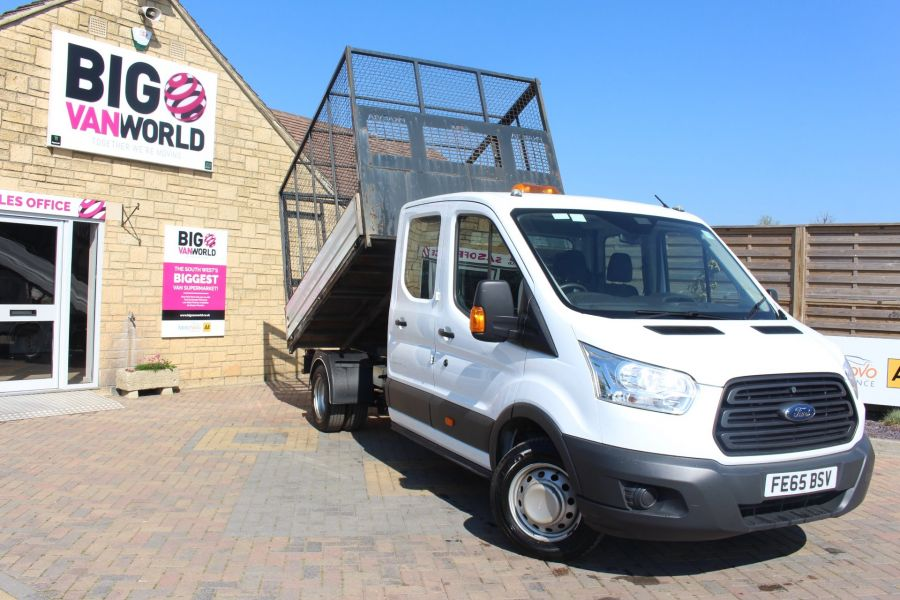 FORD TRANSIT 350 TDCI 125 L3 LWB 7 SEAT DOUBLE CAB 'ONE STOP' ALLOY TIPPER WITH STEEL CAGE DRW RWD - 9150 - 3