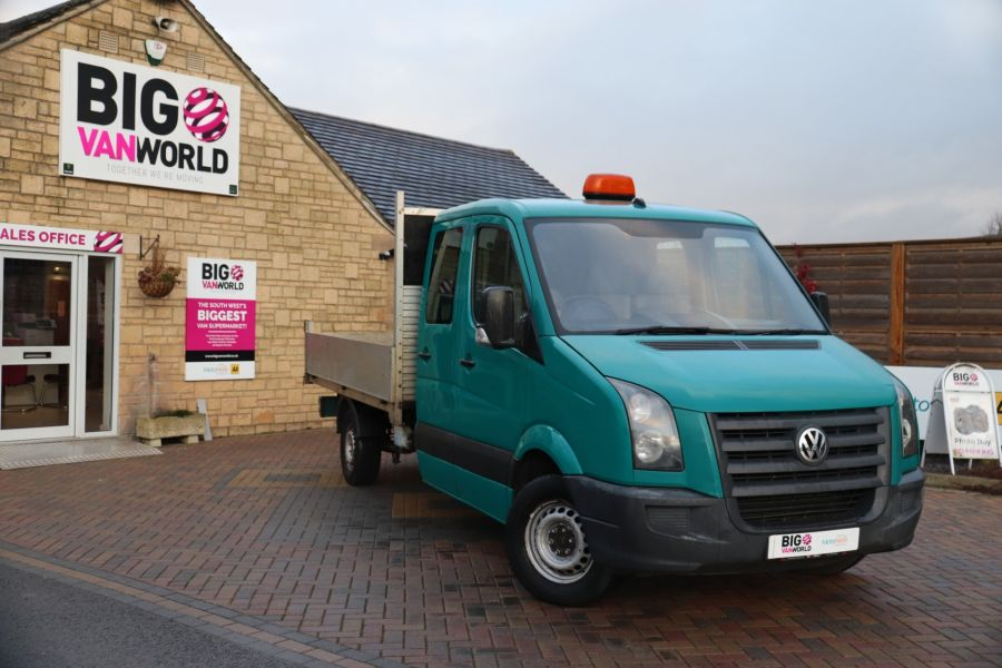 VOLKSWAGEN CRAFTER CR35 TDI 109 LWB 7 SEAT DOUBLE CAB ALLOY TIPPER - 9967 - 2
