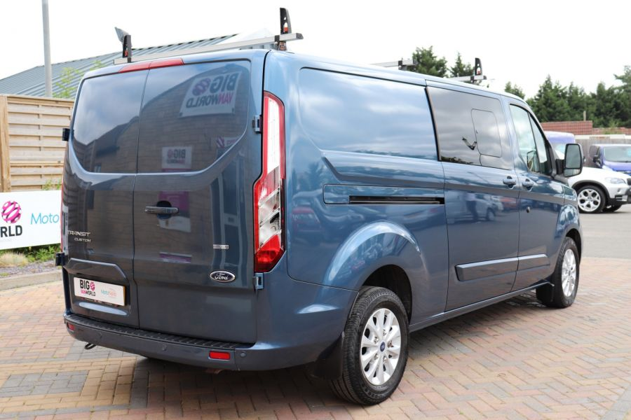 FORD TRANSIT CUSTOM 320 TDCI 130 L2 H1 LIMITED DOUBLE CAB 6 SEAT CREW VAN LWB LOW ROOF FWD - 9606 - 5
