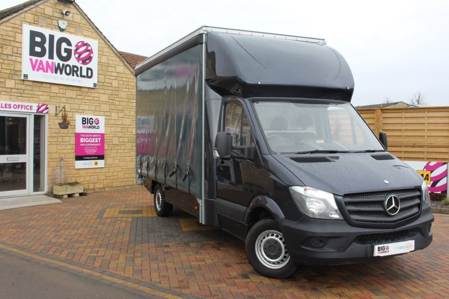 MERCEDES SPRINTER 313 CDI LWB 14FT CURTAIN SIDE BOX - 5627 - 1