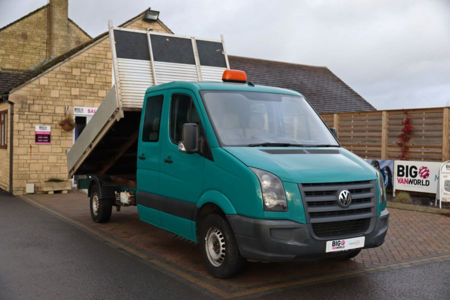 VOLKSWAGEN CRAFTER CR35 TDI 109 LWB 7 SEAT DOUBLE CAB ALLOY TIPPER - 9967 - 4