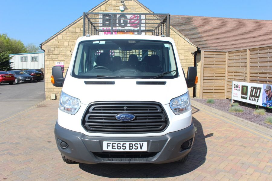 FORD TRANSIT 350 TDCI 125 L3 LWB 7 SEAT DOUBLE CAB 'ONE STOP' ALLOY TIPPER WITH STEEL CAGE DRW RWD - 9150 - 17