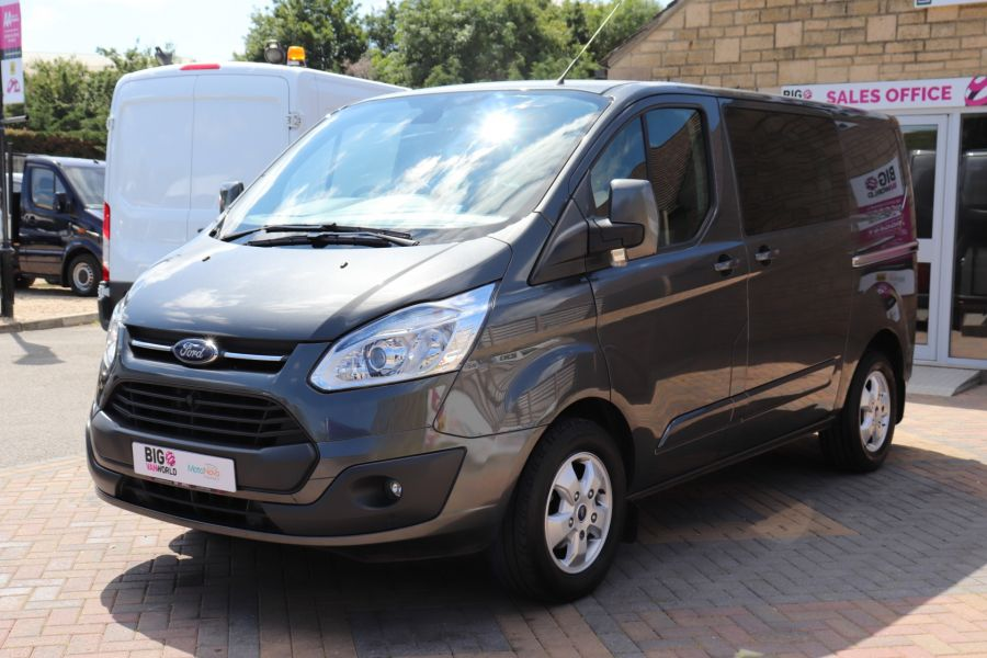 FORD TRANSIT CUSTOM 290 TDCI 125 L1H1 LIMITED DOUBLE CAB 6 SEAT CREW VAN SWB LOW ROOF FWD - 9474 - 9