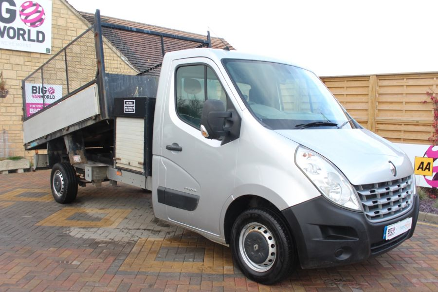 RENAULT MASTER LL35 DCI 125 LWB CAGED ALLOY TIPPER WITH SEPERATE TOOLBOX - 7124 - 3