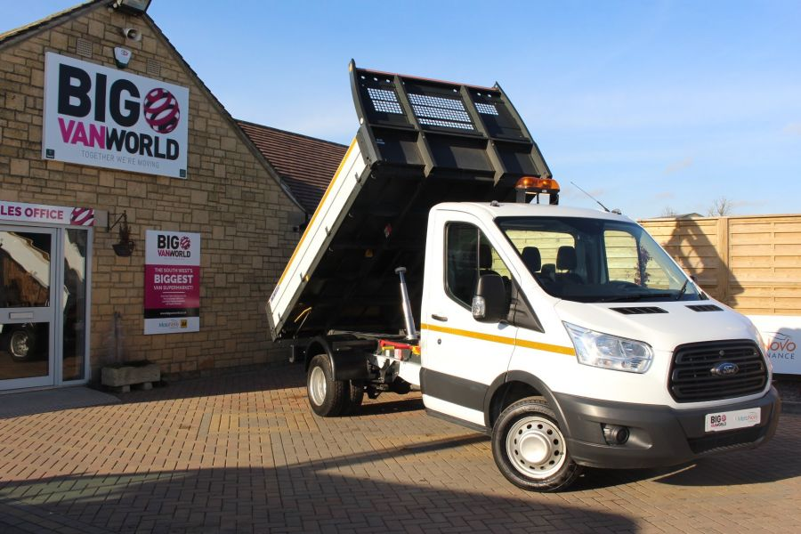 FORD TRANSIT 350 TDCI 125 SINGLE CAB 'ONE STOP' ALLOY TIPPER DRW - 7213 - 1
