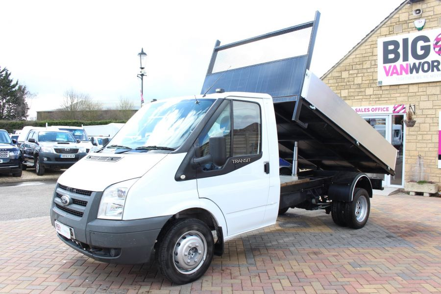 FORD TRANSIT 350 TDCI 100 MWB SINGLE CAB ALLOY TIPPER - 7589 - 7