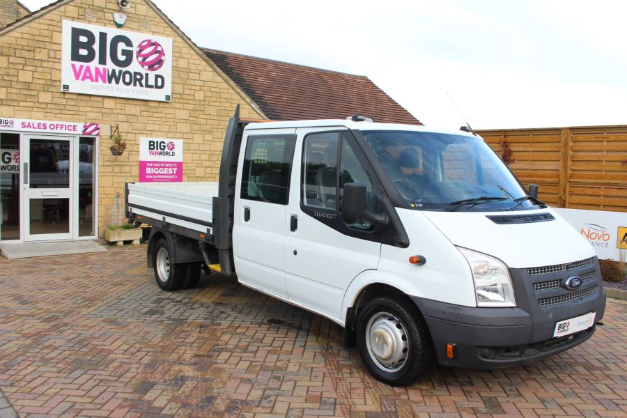 FORD TRANSIT 350 TDCI 125 LWB DOUBLE CAB 'ONE STOP' ALLOY DROPSIDE DRW RWD - 6761 - 2