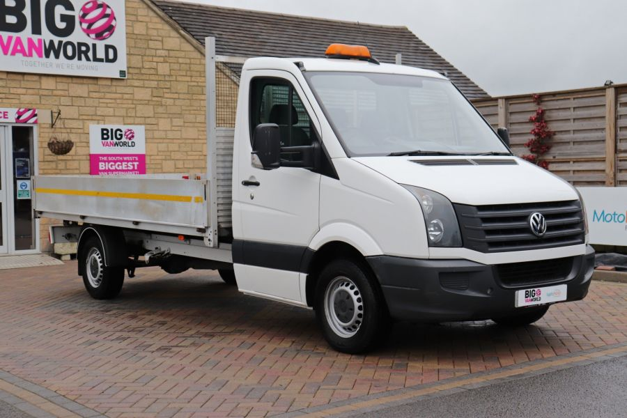 VOLKSWAGEN CRAFTER CR35 TDI 140 BMT LWB SINGLE CAB ALLOY DROPSIDE - 12073 - 1