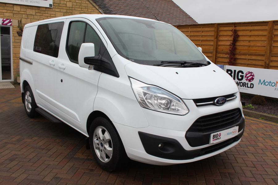 FORD TRANSIT CUSTOM 290 TDCI 155 L1 H1 LIMITED DOUBLE CAB 6 SEAT CREW VAN SWB LOW ROOF FWD - 6940 - 3